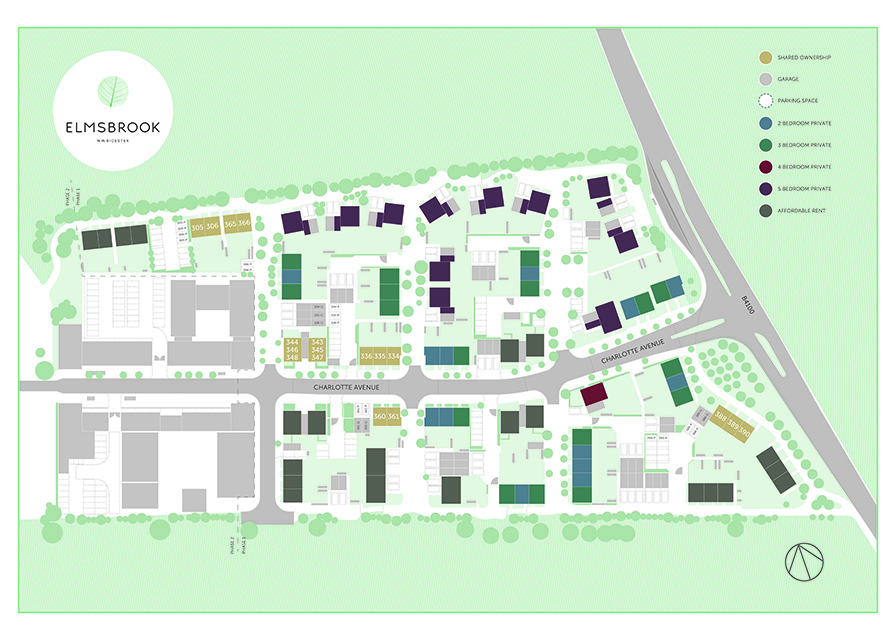 Elmsbrook Shared Ownership Site plan