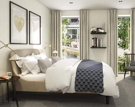 City Wharf development spec bedrooms