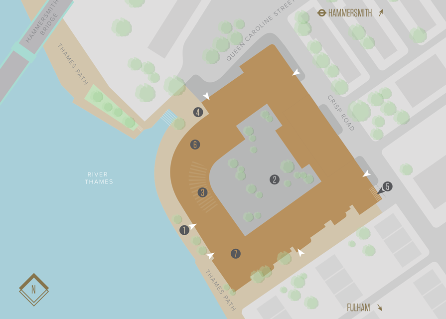 Queen's Wharf site plan