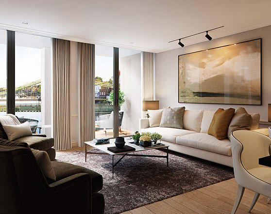 Queen's Wharf living areas
