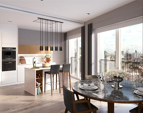 Keybridge kitchen dining room - private sales