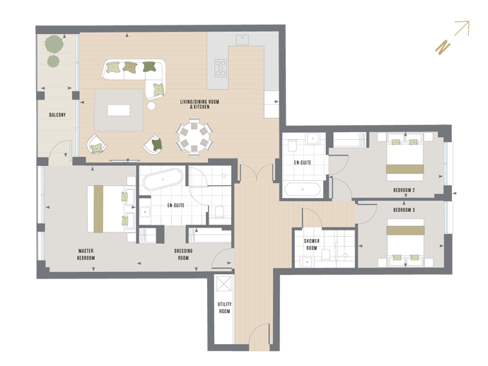 Floorplan for  at Queen's Wharf