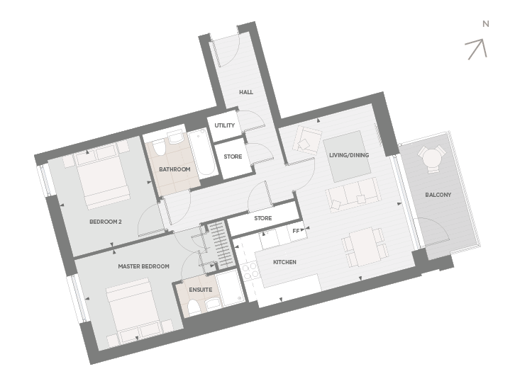 Floorplan for  at Jigsaw