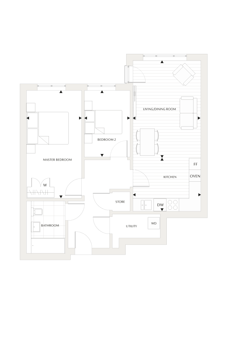 Floorplan for  at Beechwood Grove, Second