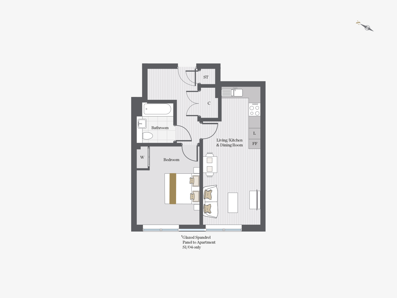 Floorplan for S2/11 at City Wharf, Second