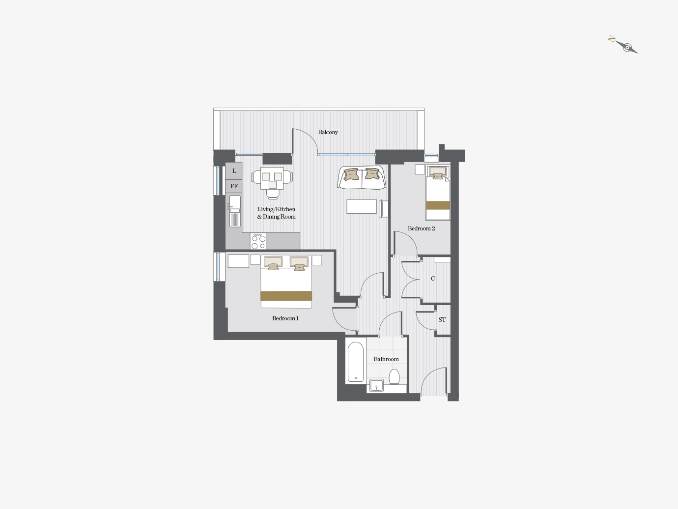 Floorplan for S8/01 at City Wharf, Eighth