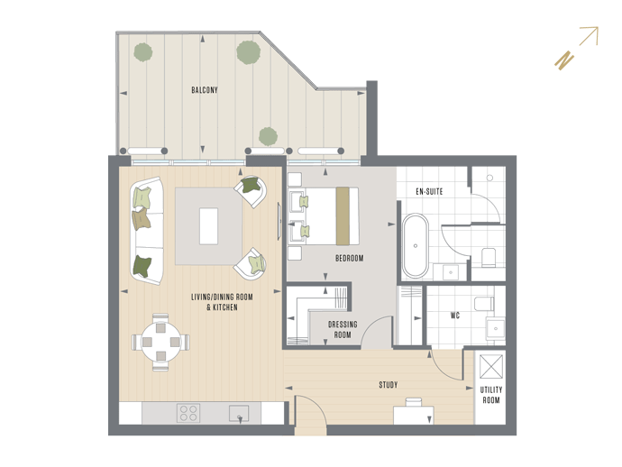 Floorplan for E.4.5 at Queen's Wharf