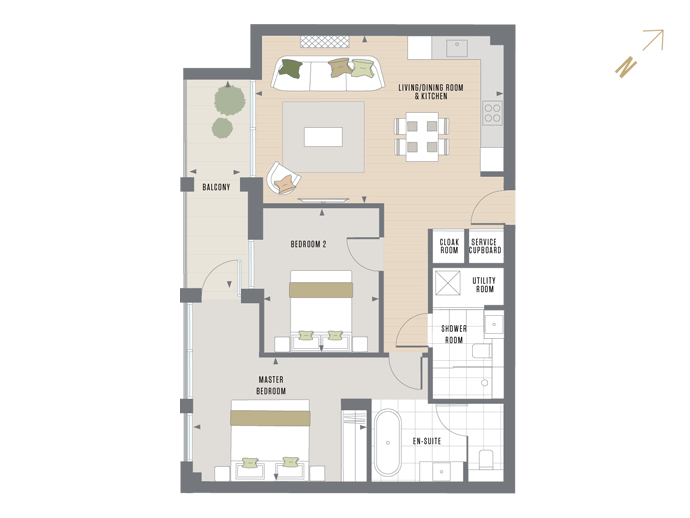 Floorplan for G.1.3 at Queen's Wharf