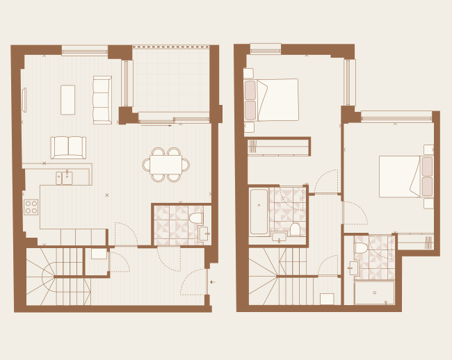 Floorplan for Plot 2.01 at Arlington Lofts, Second