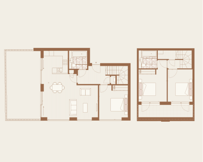 Floorplan for Apartment 16 at Arlington Lofts, Fourth