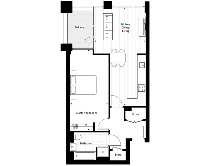 Floorplan for A3.01 at Carlton House Shared Ownership, Second