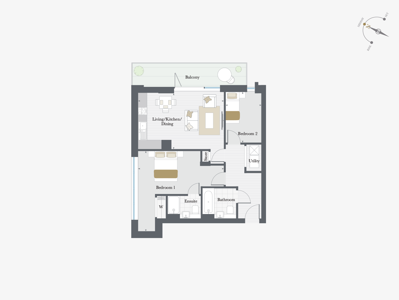 Floorplan for Apartment P6/01 at City Wharf, Sixth