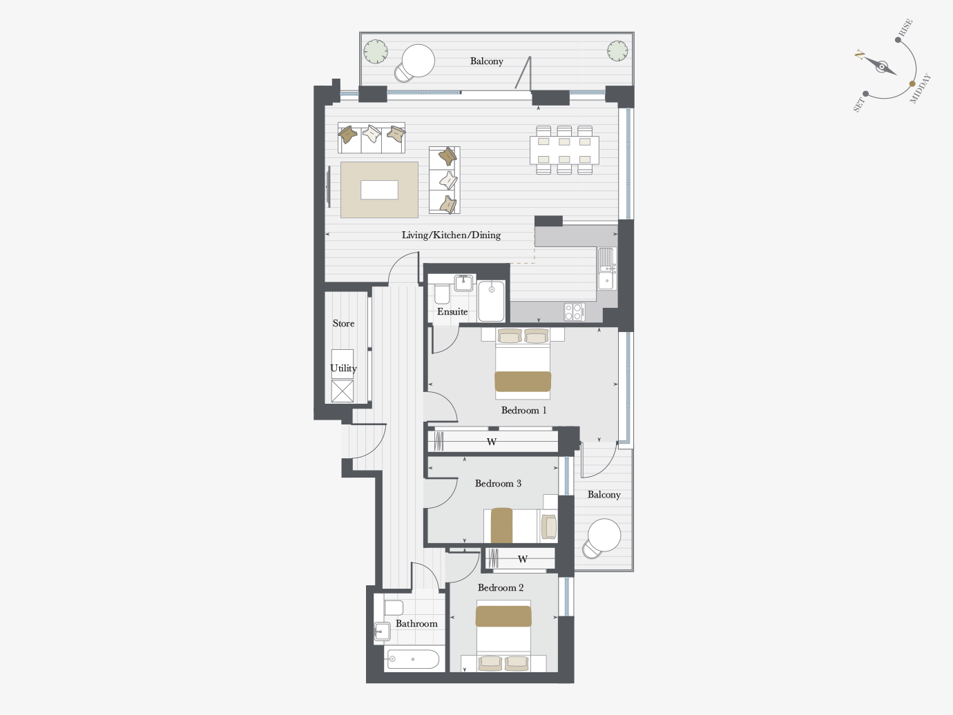 Floorplan for Apartment P6/02 at City Wharf, Sixth