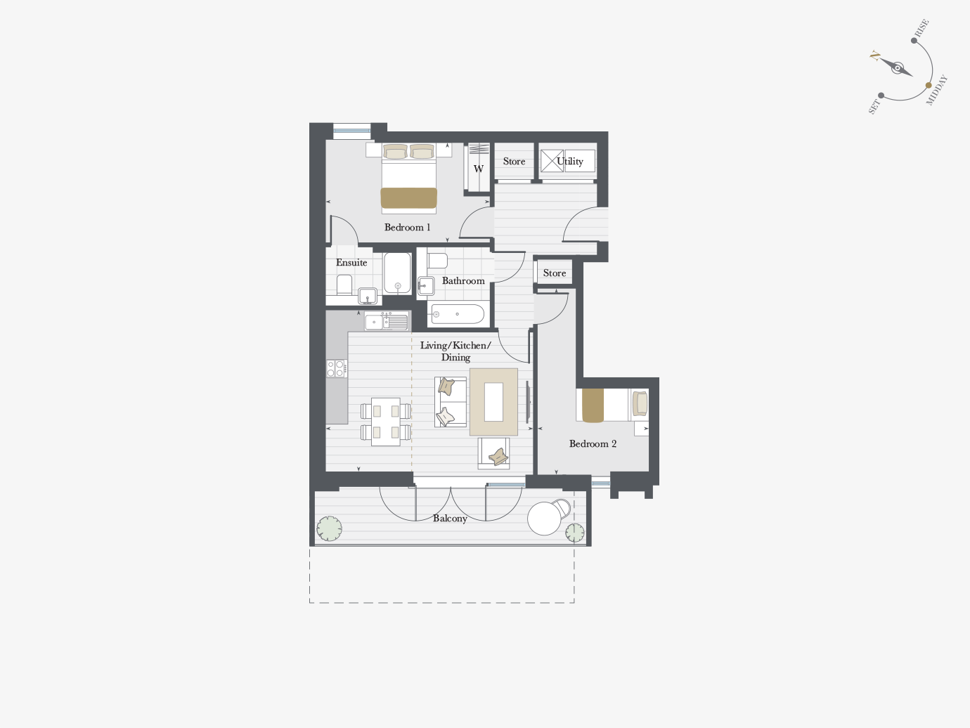 Floorplan for Apartment P7/05 at City Wharf, Seventh